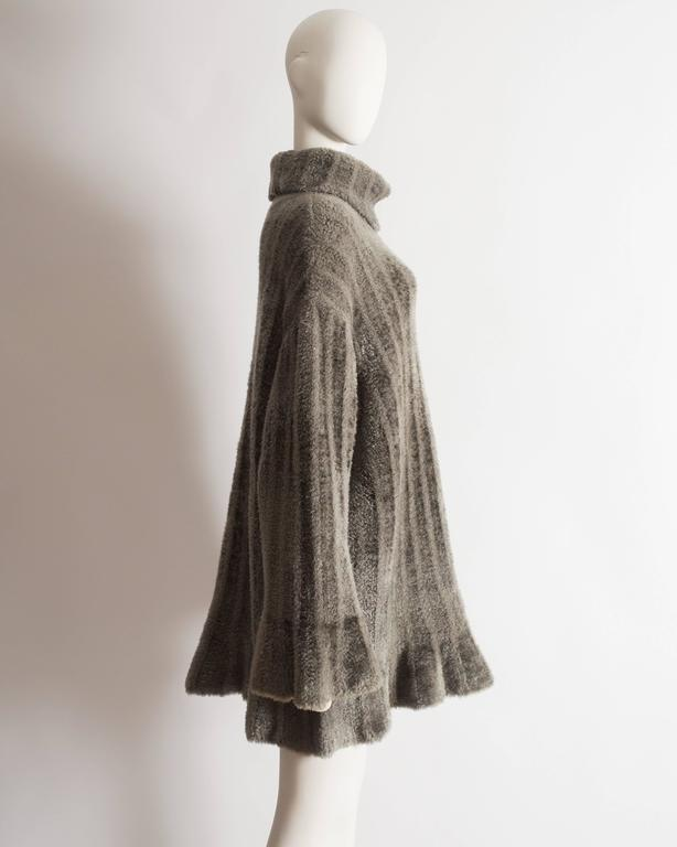 Alaia oversized chenille sweater dress, AW 1991 7