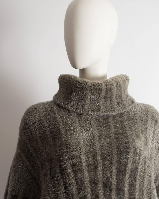 Alaia oversized chenille sweater dress, AW 1991 6