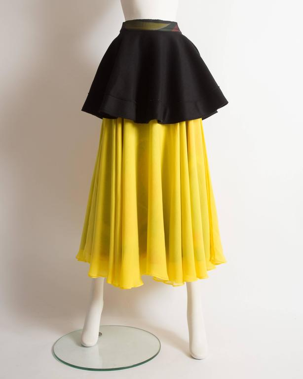 Yohji Yamamoto silk chiffon evening skirt,  AW 2005 8