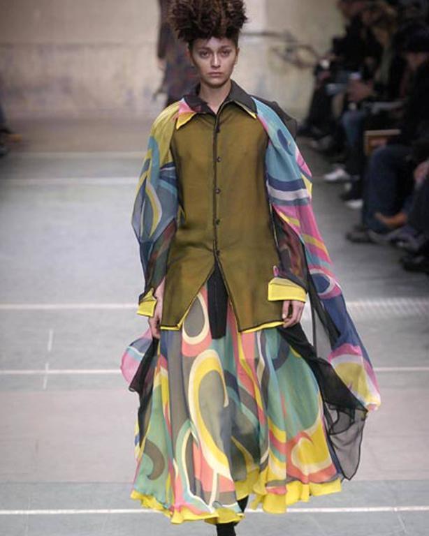 Yohji Yamamoto silk chiffon evening skirt,  AW 2005 3