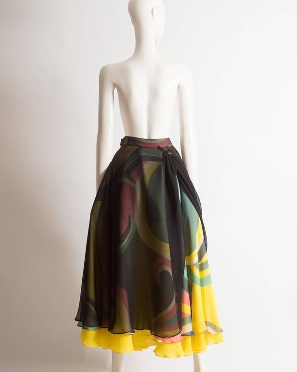 Yohji Yamamoto silk chiffon evening skirt,  AW 2005 6