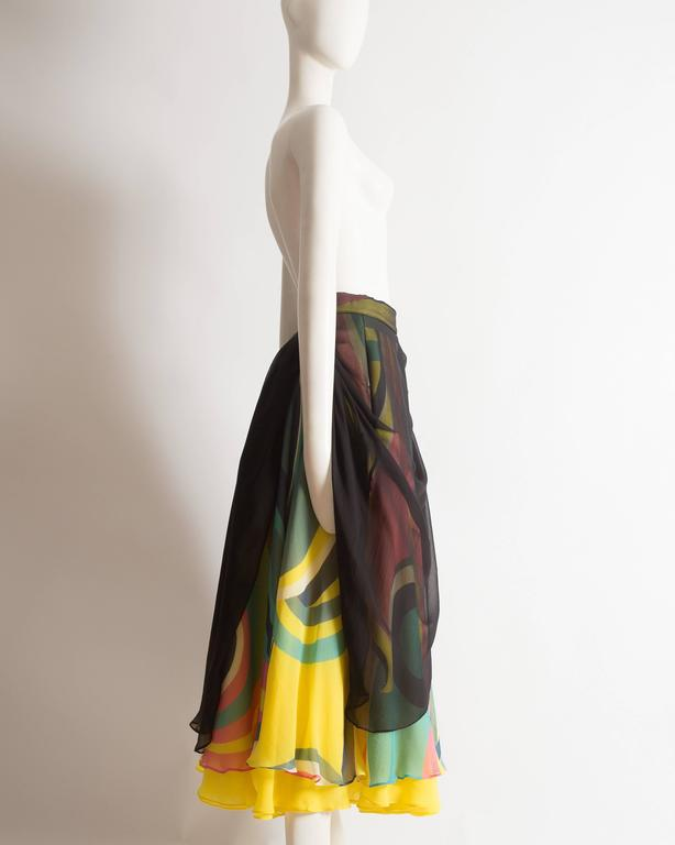 Yohji Yamamoto silk chiffon evening skirt,  AW 2005 5