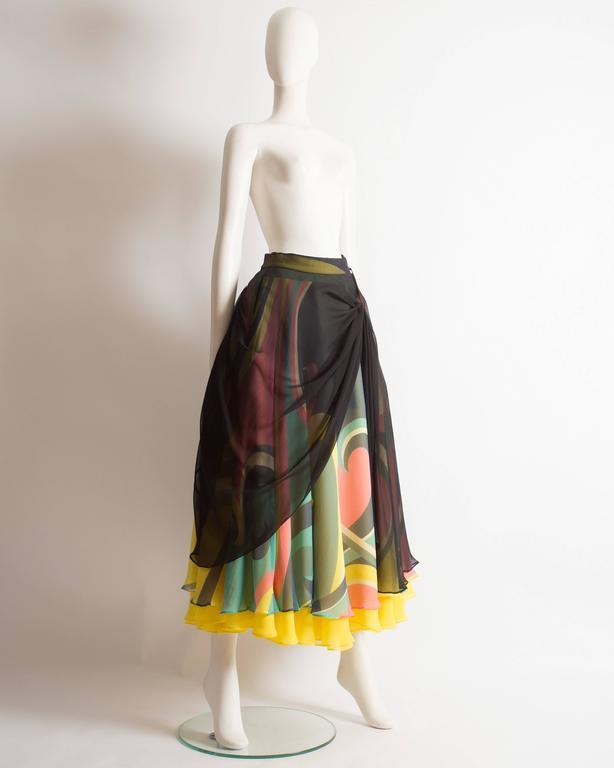 Yohji Yamamoto silk chiffon evening skirt,  AW 2005 4