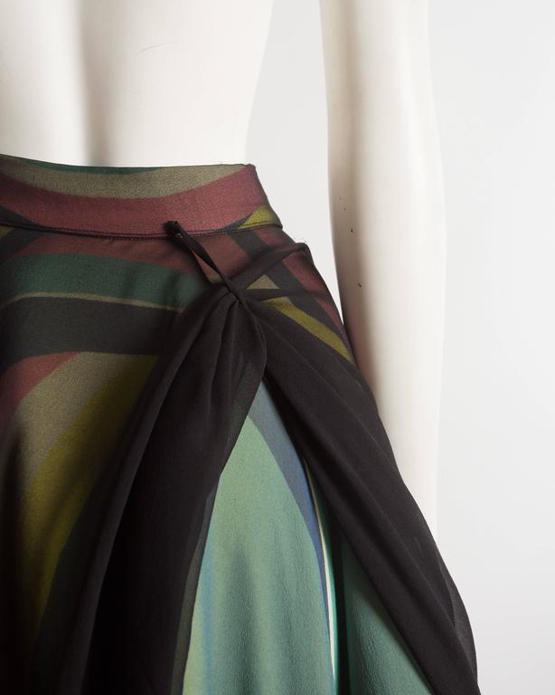 Yohji Yamamoto silk chiffon evening skirt,  AW 2005 7
