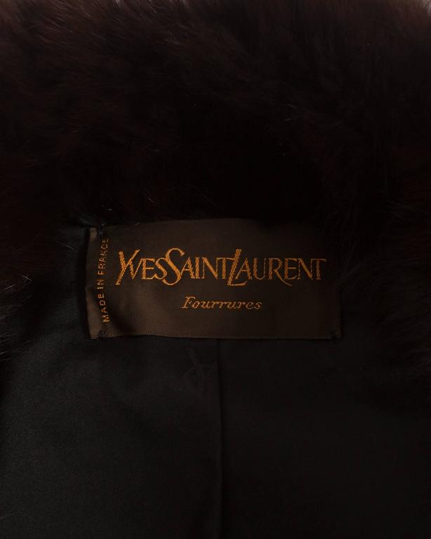 Yves Saint Laurent oversized wild fox coat, circa 1980s 9