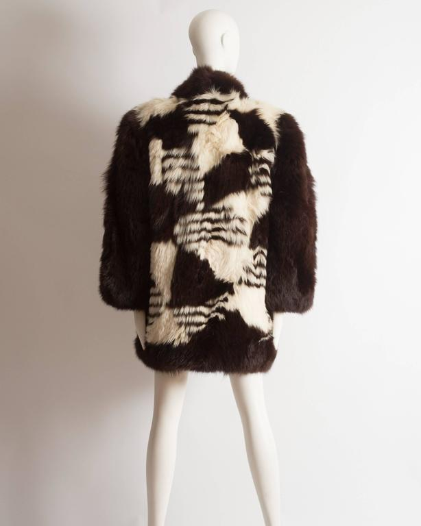 Yves Saint Laurent oversized wild fox coat, circa 1980s 7