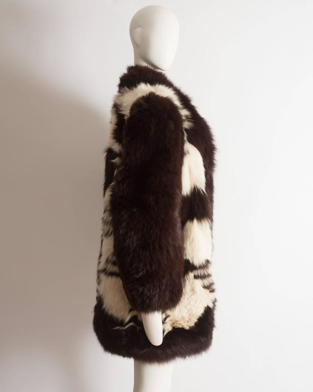 Yves Saint Laurent oversized wild fox coat, circa 1980s 6
