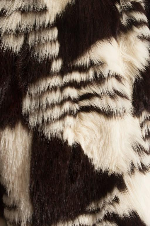 Yves Saint Laurent oversized wild fox coat, circa 1980s 8