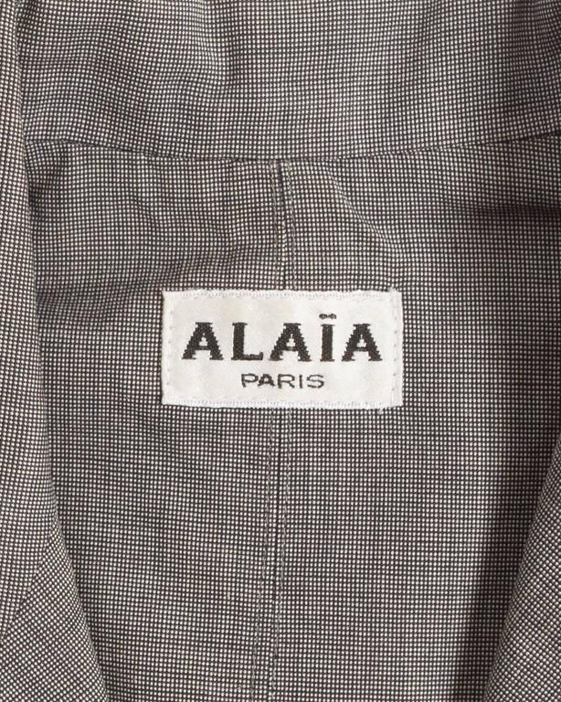 Alaia cotton mini short suit, SS 1988 For Sale 5