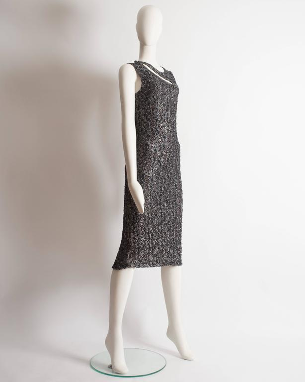 Alexander McQueen embroidered lace evening dress, circa 1990s In Excellent Condition For Sale In London, GB
