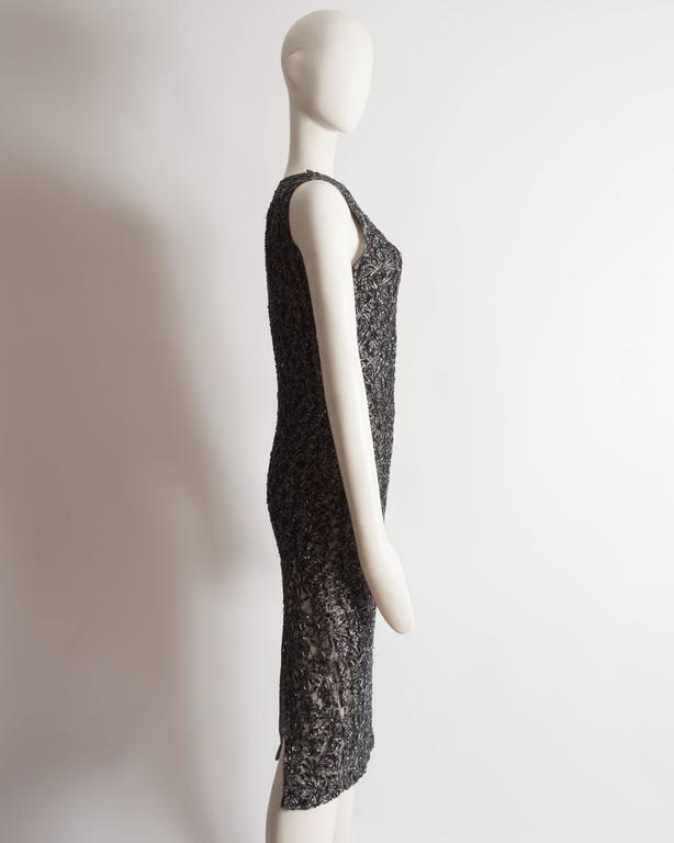 Alexander McQueen embroidered lace evening dress, circa 1990s 6
