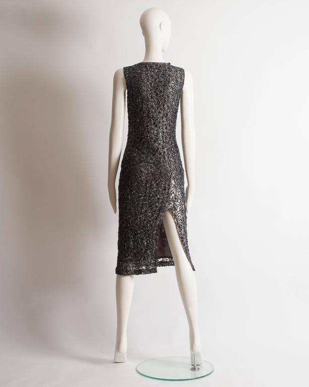 Alexander McQueen embroidered lace evening dress, circa 1990s 7
