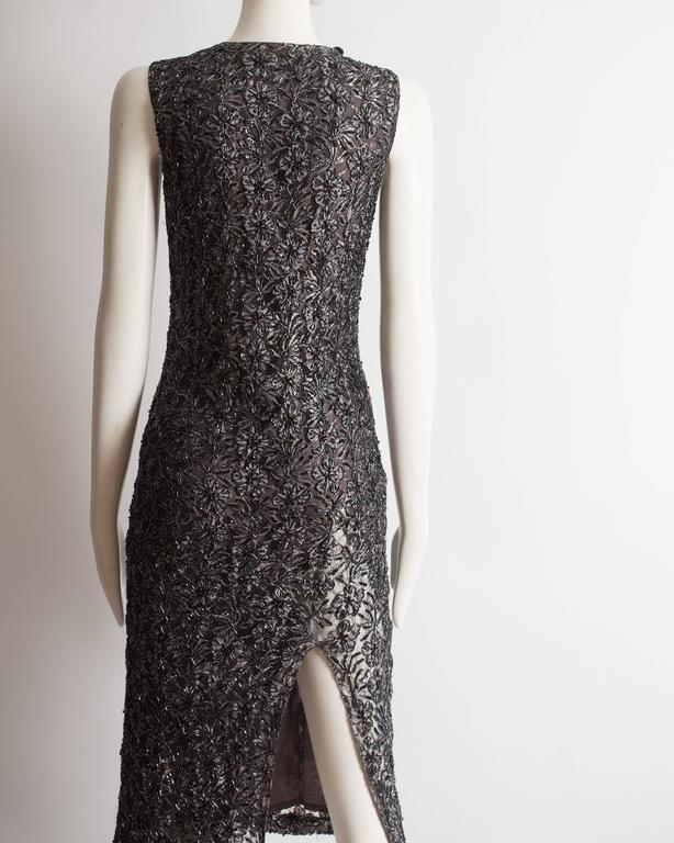 Alexander McQueen embroidered lace evening dress, circa 1990s 8
