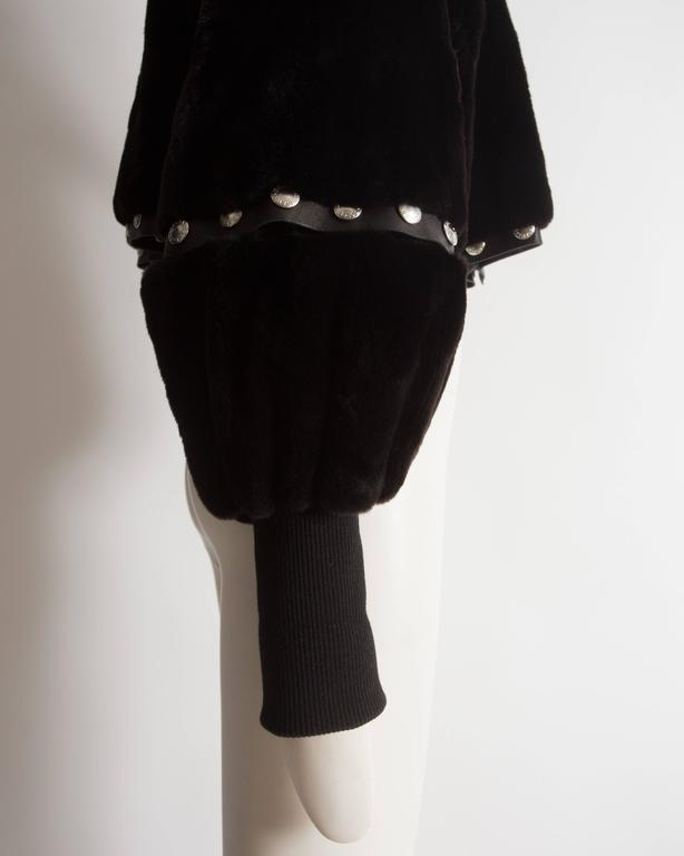 Dolce & Gabbana studded sheared beaver fur cropped jacket, AW 2003 6