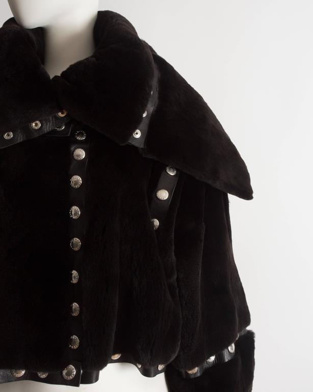 Dolce & Gabbana studded sheared beaver fur cropped jacket, AW 2003 4