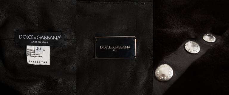 Dolce & Gabbana studded sheared beaver fur cropped jacket, AW 2003 10