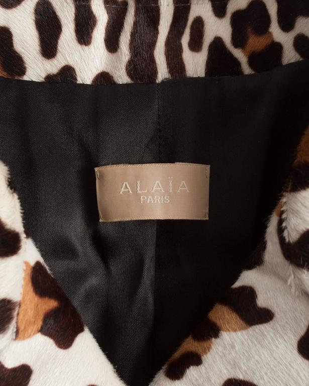 Alaia pony hair leopard print coat and boots ensemble 10
