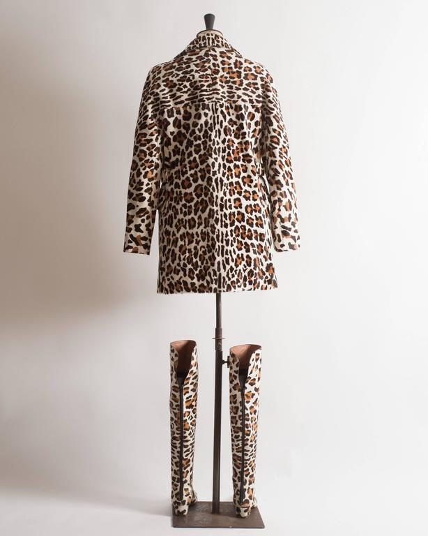 Alaia pony hair leopard print coat and boots ensemble 6