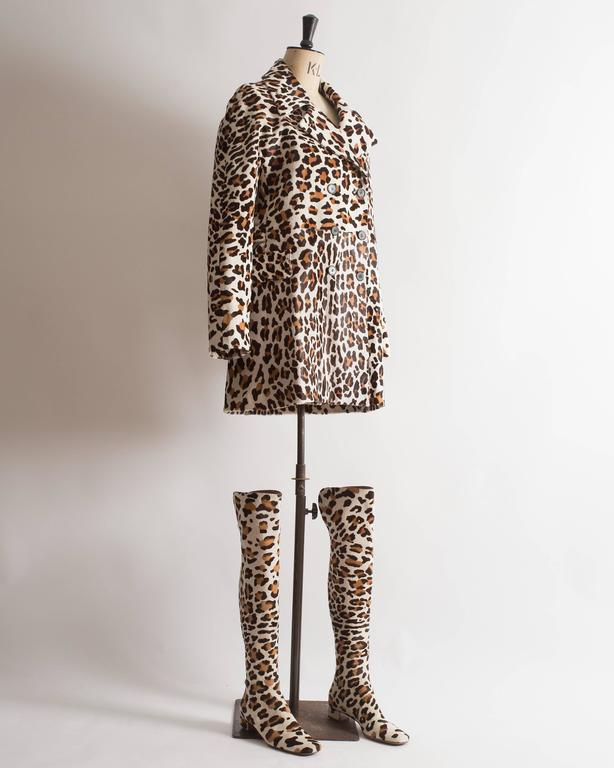 Alaia pony hair leopard print coat and boots ensemble 4