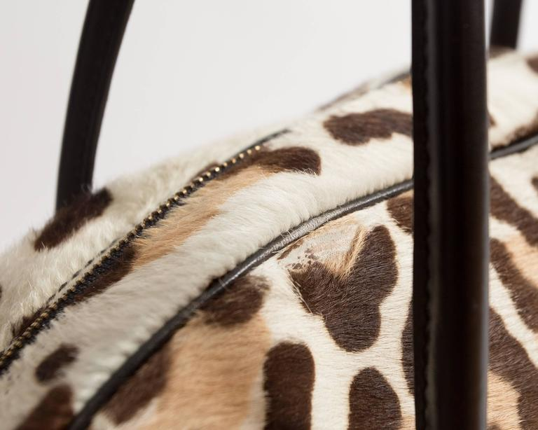 Alaia large pony hair leopard print tote bag For Sale 3