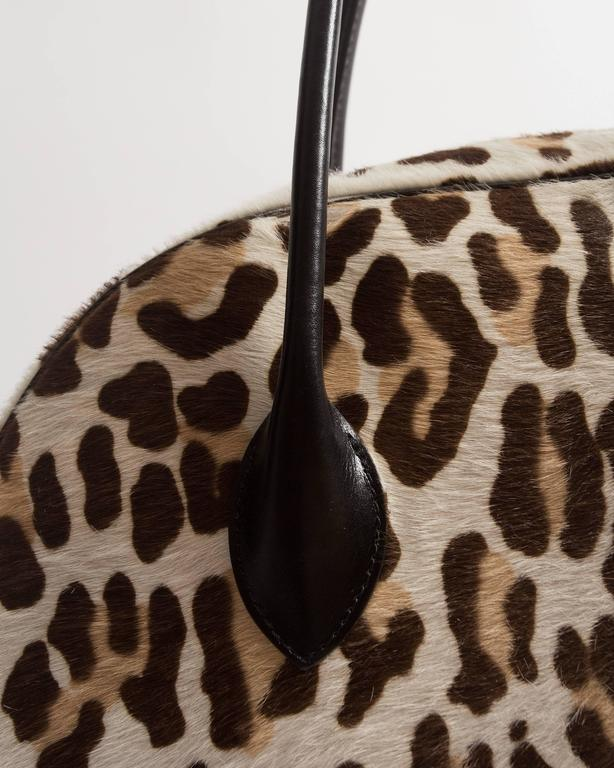 Alaia large pony hair leopard print tote bag In Good Condition For Sale In London, GB
