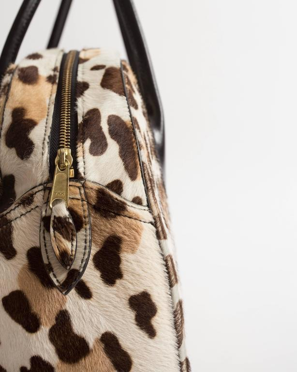 Alaia large pony hair leopard print tote bag For Sale 1