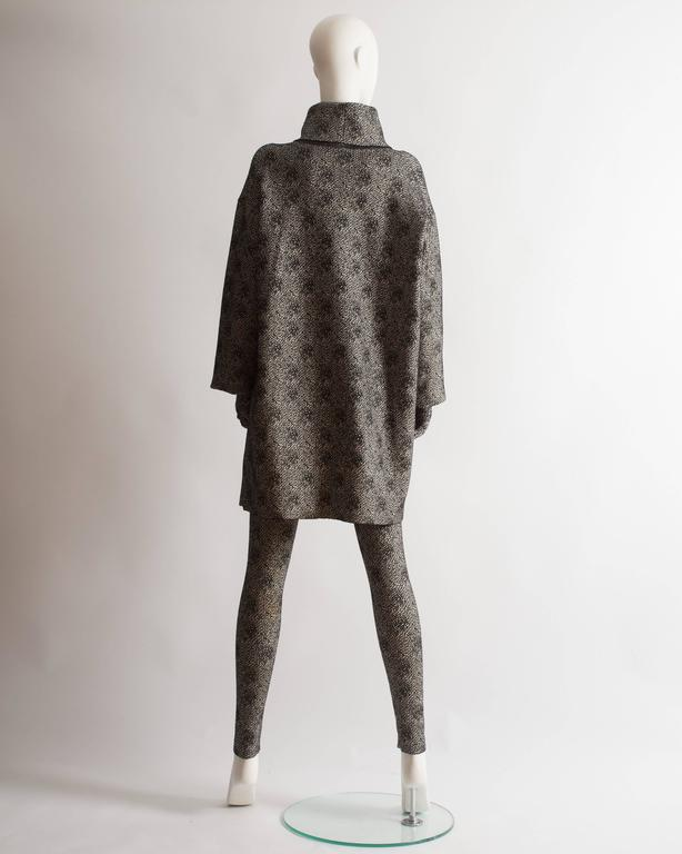 Alaia knitted sweater dress, leggings and gloves ensemble  For Sale 2