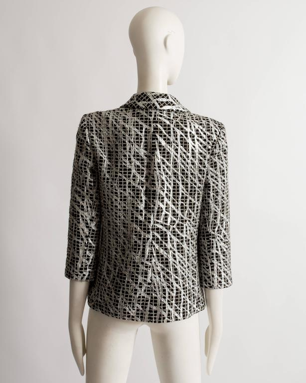 Chanel double breasted metallic silver evening jacket, SS 2012 For Sale 4