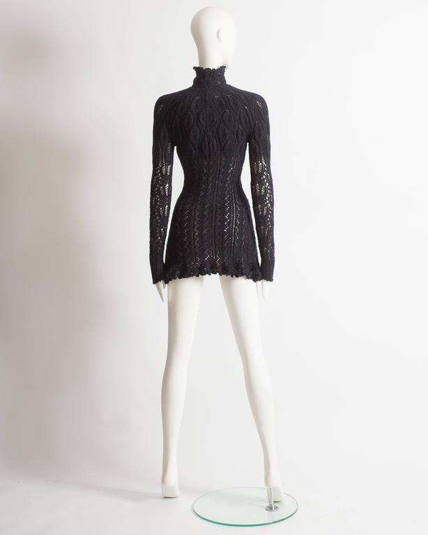 Vivienne Westwood corseted crochet knit mini dress, AW 1993 For Sale 2