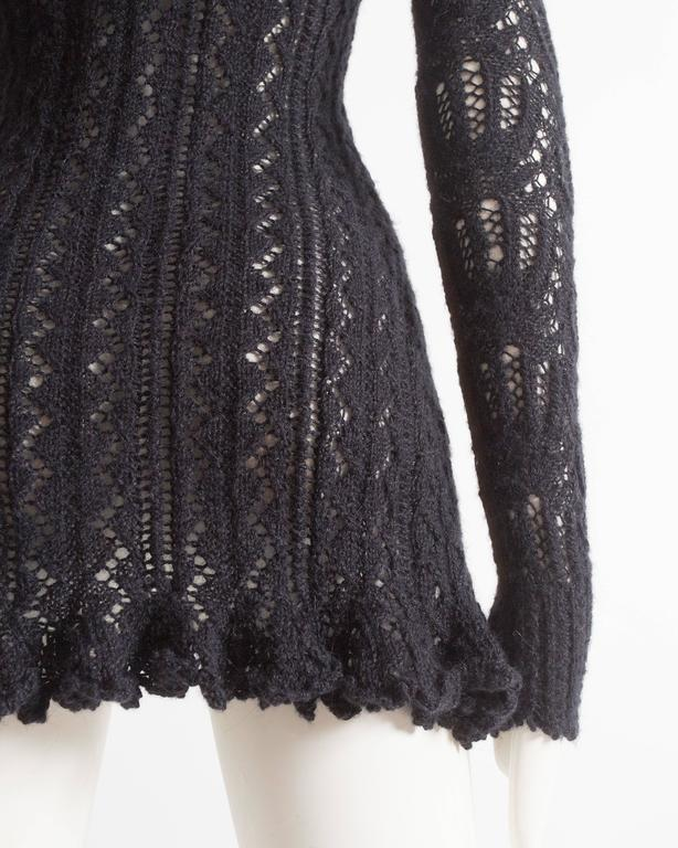Vivienne Westwood corseted crochet knit mini dress, AW 1993 For Sale 1