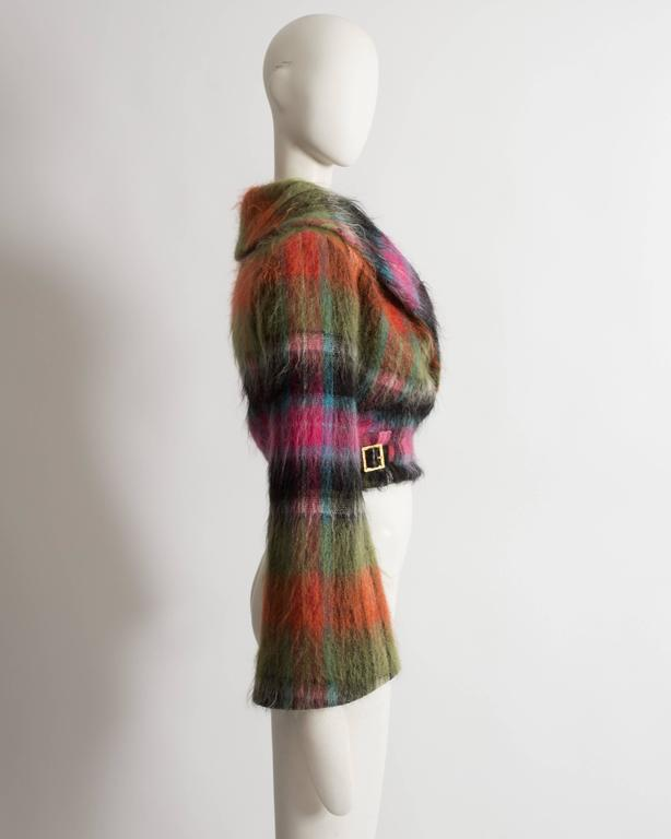 Vivienne Westwood tartan mohair wool jacket, AW 1993 For Sale 2