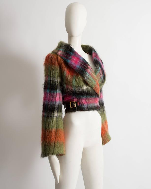 Vivienne Westwood tartan mohair wool jacket, AW 1993 For Sale 1