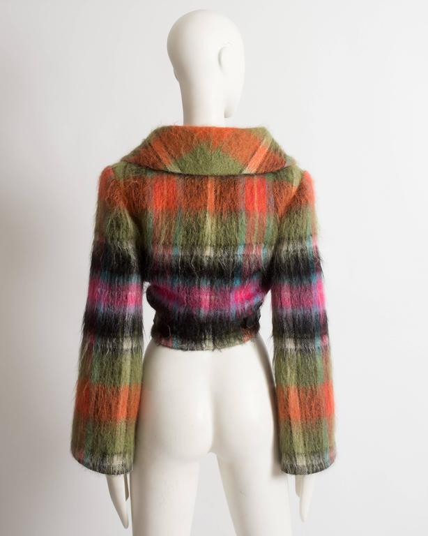 Vivienne Westwood tartan mohair wool jacket, AW 1993 For Sale 3
