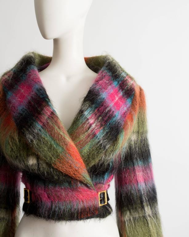 Vivienne Westwood tartan mohair wool jacket, AW 1993 In Excellent Condition For Sale In London, GB