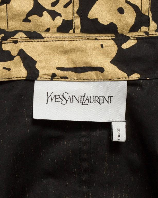 Yves Saint Laurent by Stefano Pilati black and gold evening jacket, circa 2008 For Sale 2