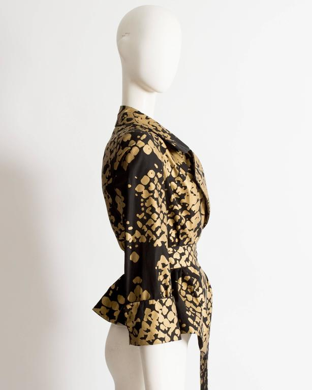 Women's Yves Saint Laurent by Stefano Pilati black and gold evening jacket, circa 2008 For Sale
