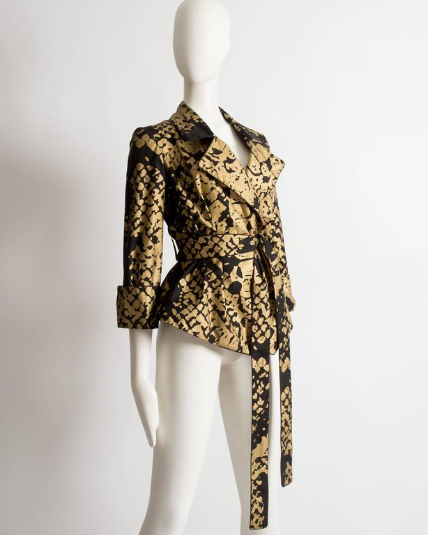 Yves Saint Laurent by Stefano Pilati black and gold evening jacket, circa 2008 In Excellent Condition For Sale In London, GB