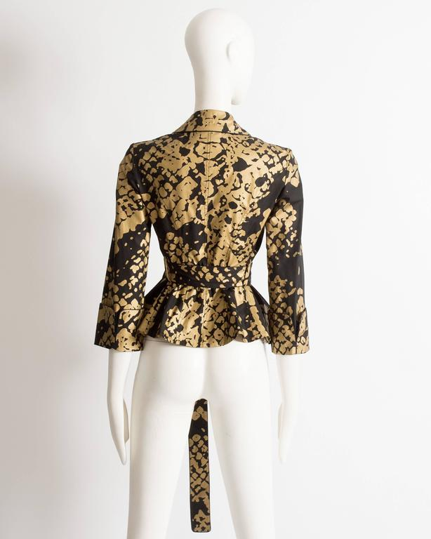 Yves Saint Laurent by Stefano Pilati black and gold evening jacket, circa 2008 For Sale 1