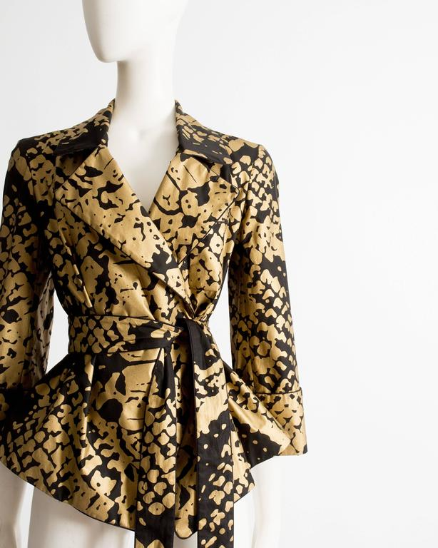 Black Yves Saint Laurent by Stefano Pilati black and gold evening jacket, circa 2008 For Sale