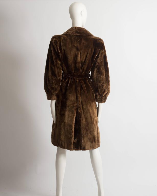 Yves Saint Laurent Haute Couture sheared beaver fur coat, AW 1985 For Sale 3