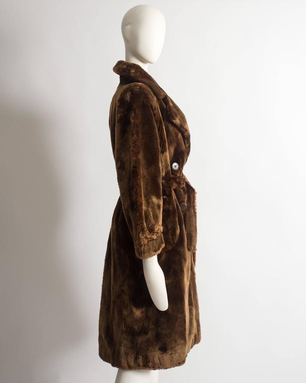 Yves Saint Laurent Haute Couture sheared beaver fur coat, AW 1985 For Sale 2