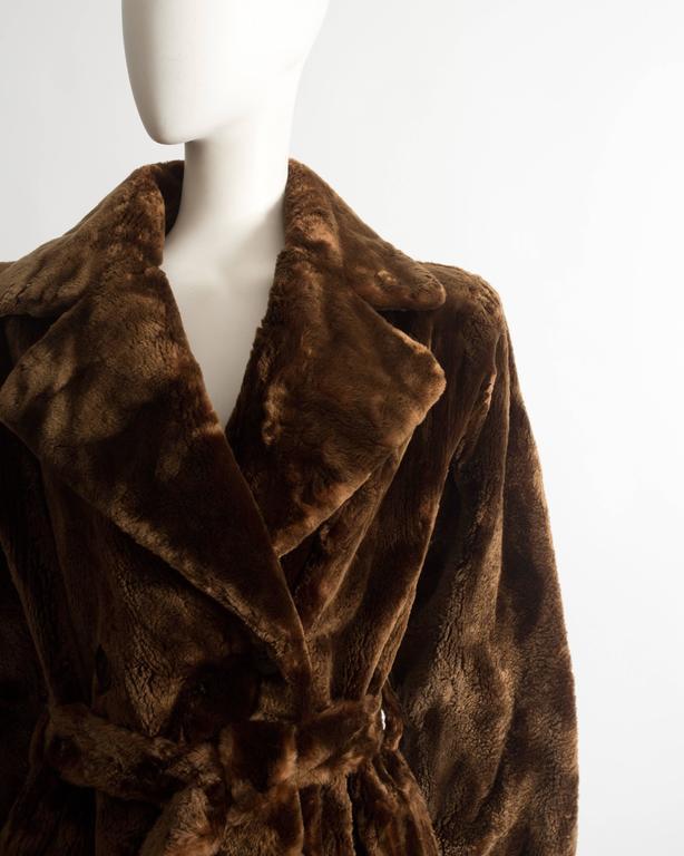 Women's Yves Saint Laurent Haute Couture sheared beaver fur coat, AW 1985 For Sale