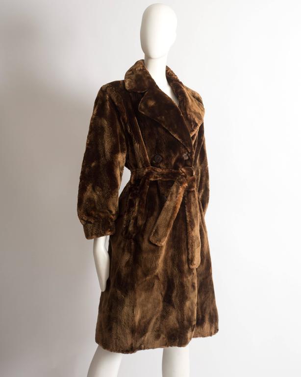 Yves Saint Laurent Haute Couture sheared beaver fur coat, AW 1985 For Sale 1