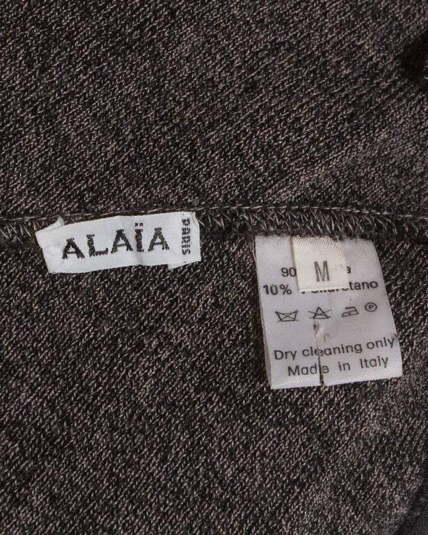 Alaia high waisted knitted skirt with leather harness, circa 1987 For Sale 4
