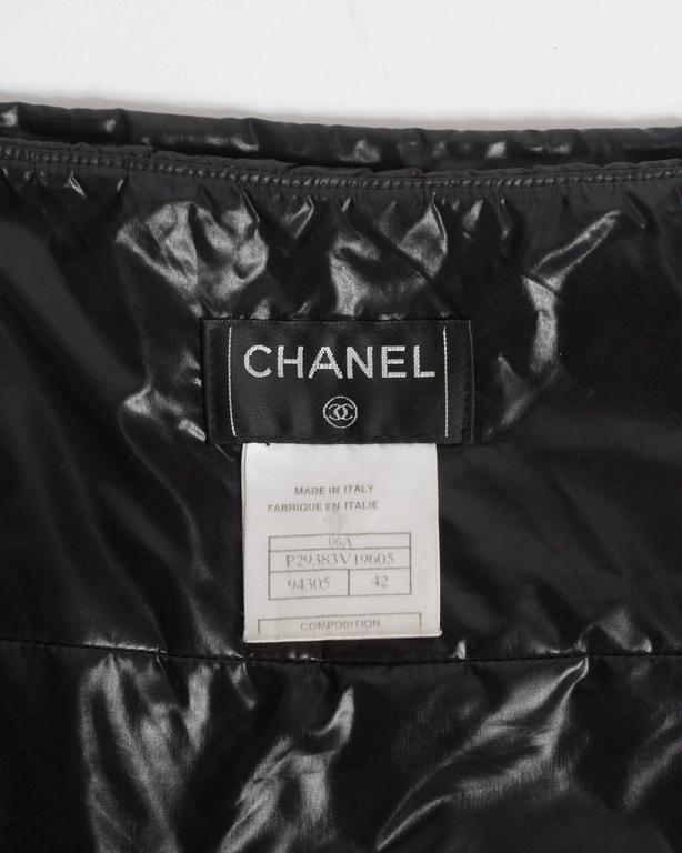 Chanel quilted nylon mini skirt, circa 2006 For Sale 2