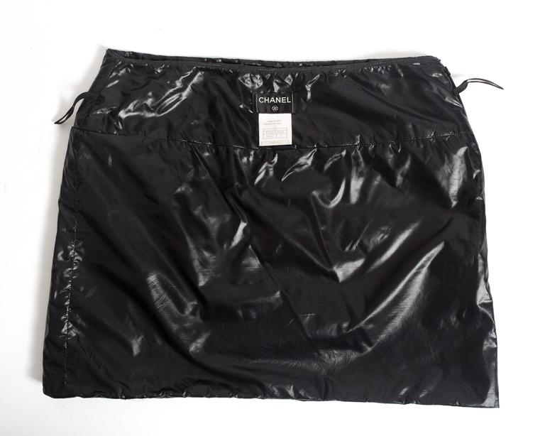 Chanel quilted nylon mini skirt, circa 2006 For Sale 1