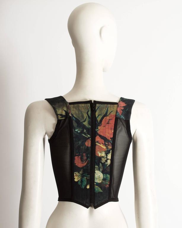 Vivienne Westwood  'Vive la Cocotte' floral print corset, AW 1995 For Sale 1