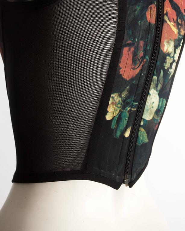 Vivienne Westwood  'Vive la Cocotte' floral print corset, AW 1995 For Sale 2