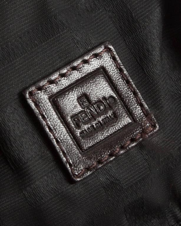 Fendi miniature nylon monogram bag with fox tail 7