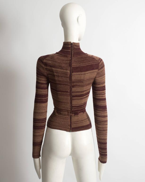 Vivienne Westwood striped wool sweater with corset 6